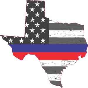 Rustic Texas Red Blue Lives Matter Sticker