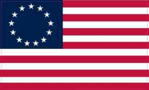 Betsy Ross American Flag Sticker