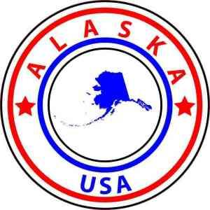 Circle Alaska State Sticker