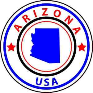 State Circle Arizona Sticker