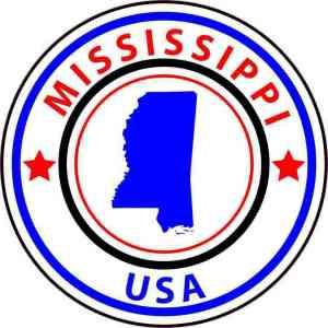 State Circle Mississippi Sticker