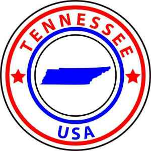 tennessee state circle sticker