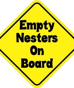 Empty Nesters On Board Magnet