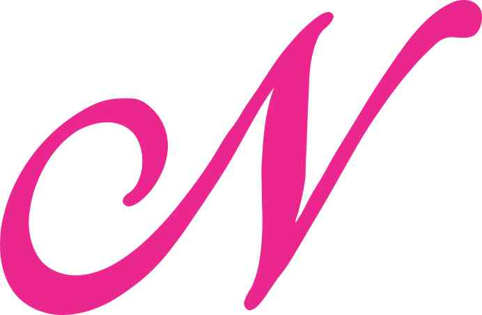 pictures of the letter n in pink www