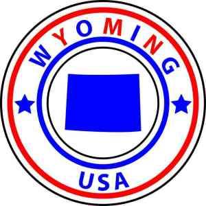 State Circle Wyoming Sticker