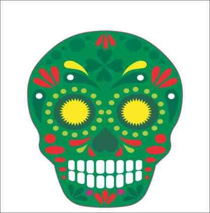 Green Skull Sticker
