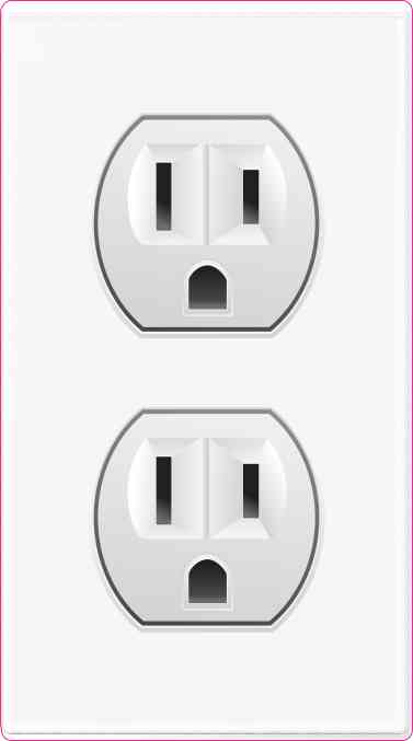 Power Outlet Sticker