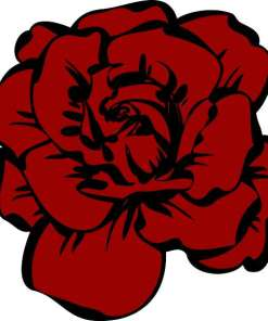 Red and Black Rose Sticker