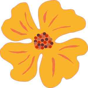 Orange Flower Sticker