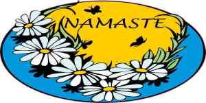 Blue Namaste Flower Sticker