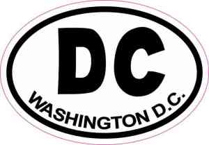 Oval DC Washington D.C. Sticker