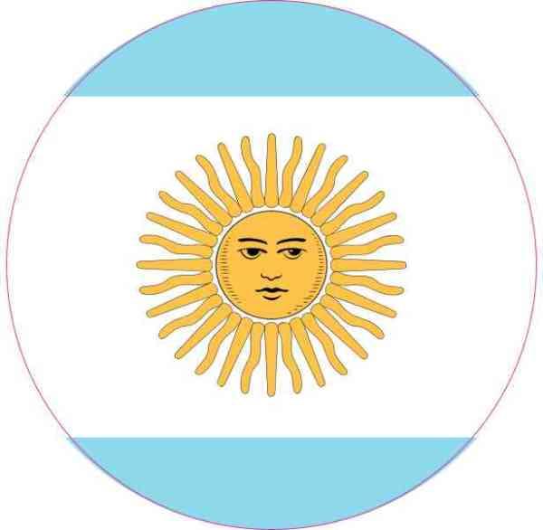 Circle Argentina Flag Sticker