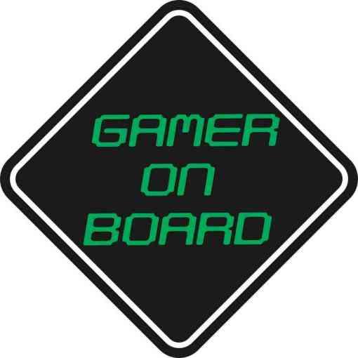 Gamer On Board Sticker
