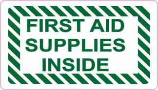 first aid supplies inside