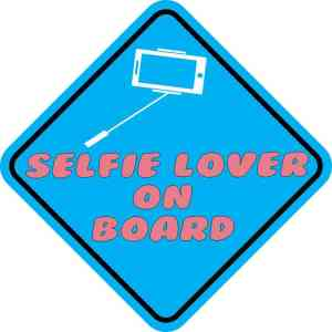 Selfie Lover On Board Sticker