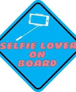 Selfie Lover On Board Sticker