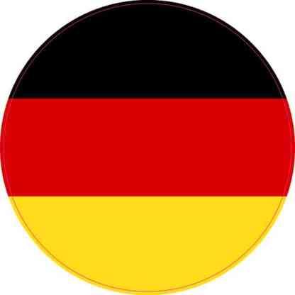 Round Germany Flag Sticker