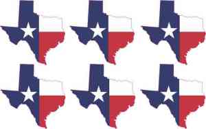 Die Cut Texas Stickers