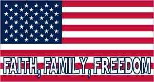 Faith Family Freedom American Flag Magnet