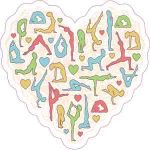 Yoga Heart Sticker