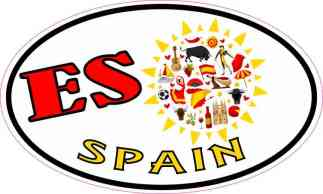 Oval Sun ES Spain Sticker