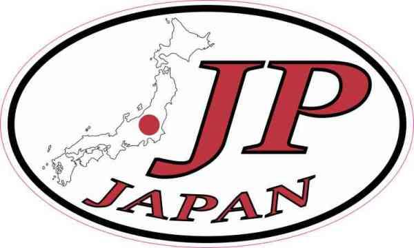Oval JP Japan Sticker
