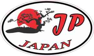 Oval Japan Sticker