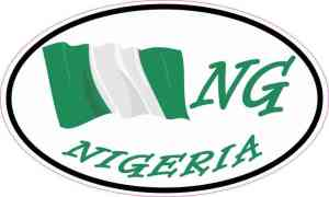 Oval Nigeria Flag Sticker