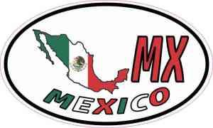 Oval MX Mexico Sticker