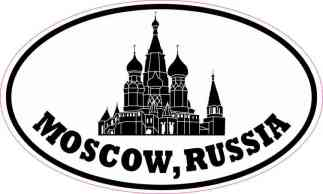 Oval Moscow Russia Sticker