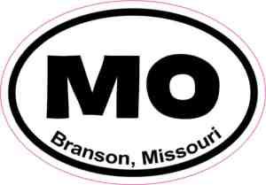 Oval Branson Missouri Sticker