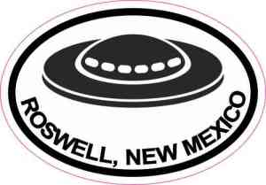 Oval UFO Roswell New Mexico Sticker