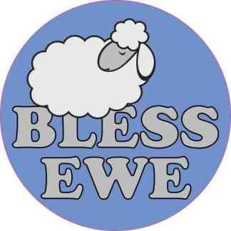 Bless Ewe Sheep Sticker