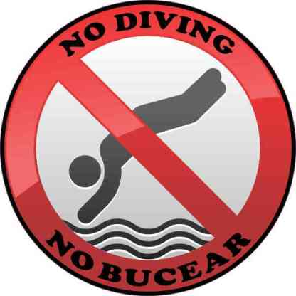 No Bucear No Diving Sticker