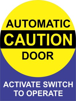 Automatic Door Sticker