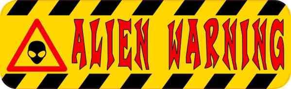 Alien Warning Magnet