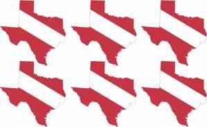 Texas SCUBA Flag Stickers