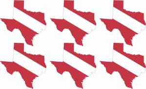 Texas SCUBA Flag Stickers