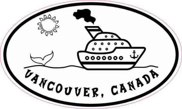 Oval Cruise Ship Vancouver Canada Sticker