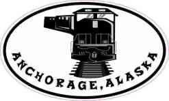 Oval Train Anchorage Alaska Sticker