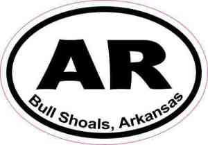 Oval Bull Shoals Arkansas Sticker