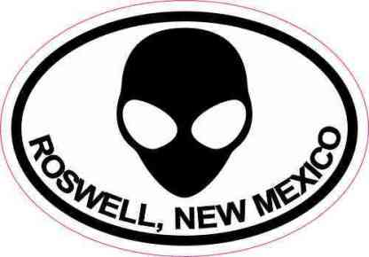 Oval Alien Roswell New Mexico Sticker