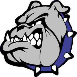 Blue Collared Bulldog Mascot Sticker