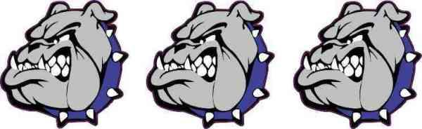 Blue Collared Bulldog Mascot Stickers