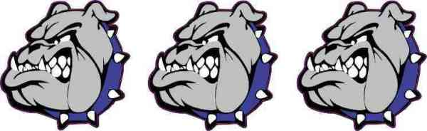 Blue Collared Bulldog Mascot Stickers