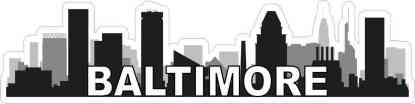 Baltimore Skyline Sticker