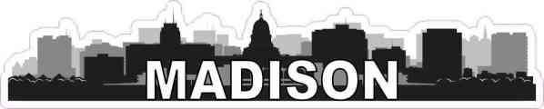 Madison Skyline Sticker