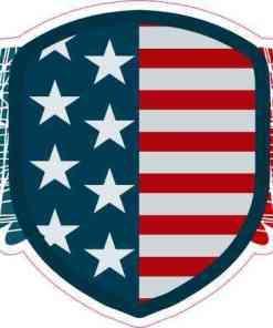 Winged American Flag Shield Sticker