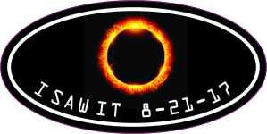 Oval I Saw It Eclipse Sticker