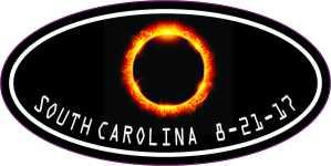 Oval South Carolina Eclipse Sticker
